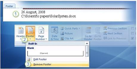 header va footer trong word 2010