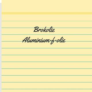 Brokolie en aluminium-f-olie