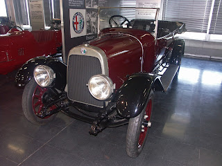 An Alfa Romeo 20-30 at the Alfa Romeo museum at Arese, about 15km north-west of Milan
