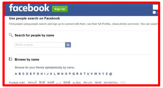 Facebook Profile Search without Login - DaftarEmail com