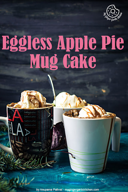 Eggless Apple Pie Mug Cake
