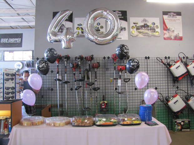 40th Birthday Party Table Decoration Ideas