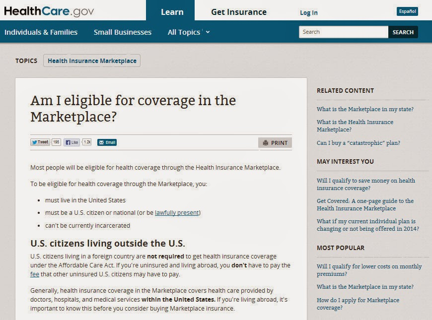 Healthcare.gov: You don't qualify to purchase health coverage through the  Marketplace: Is There A Problem Here?: Healthcare.gov: You don't qualify to  ...