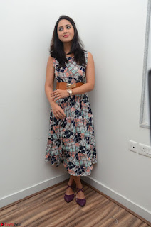 Miya George Looks Stunning in a Sleeveless Flower Print Gown at Yaman Movie Audio Launch Event Feb 2017 50.JPG