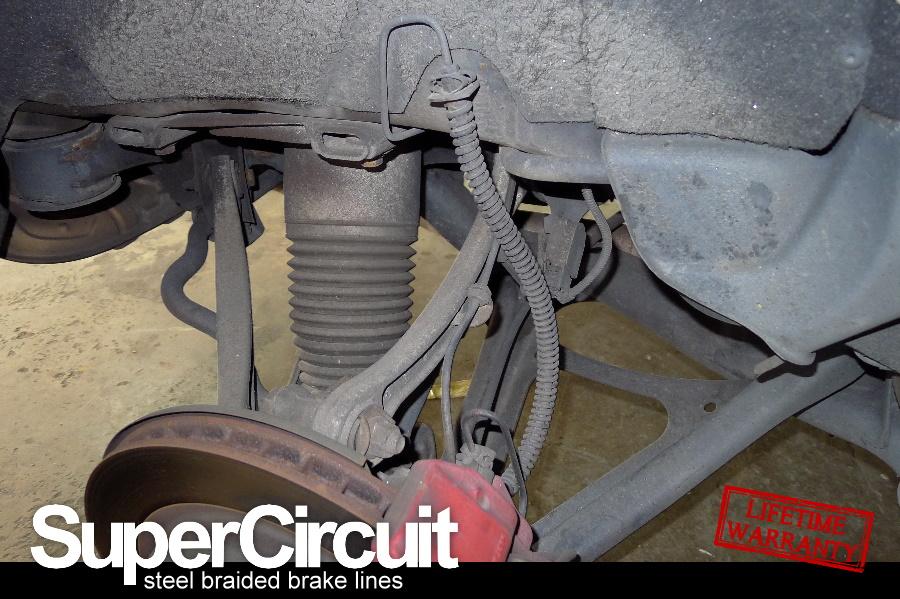 Steel Braided Brake Lines Installed : Supercircuit steel braided brake lines march