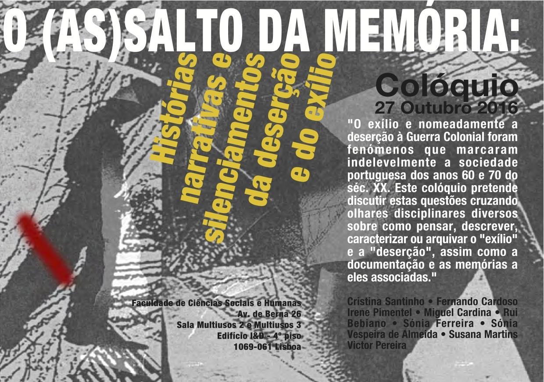 e9192cabe Cartaz do Colóquio O (as)salto da memória