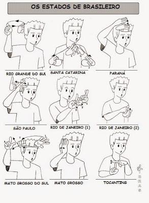 sinais de libras de estados de brasileiro
