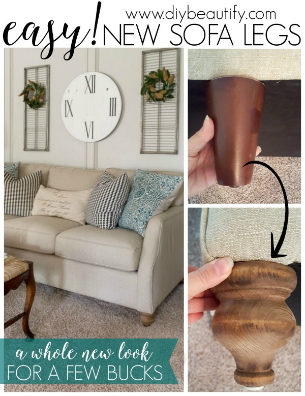 Incredible Easy Sofa Leg Swap Diy Beautify Download Free Architecture Designs Intelgarnamadebymaigaardcom