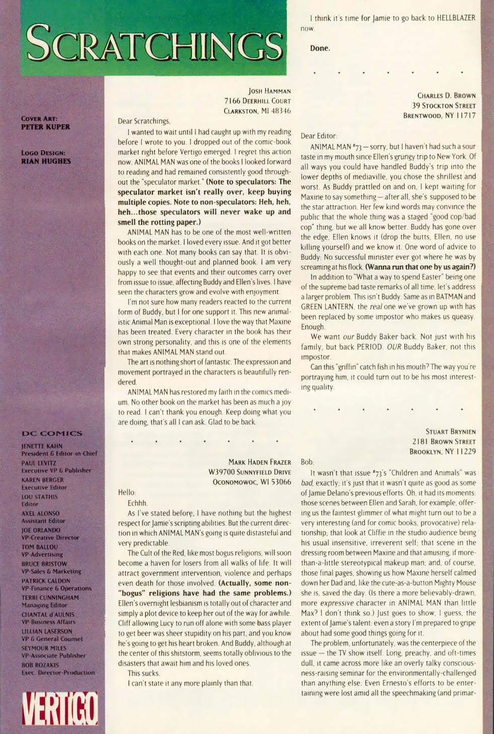 Read online Animal Man (1988) comic -  Issue #78 - 26