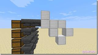 マインクラフト 水流を使った自動仕分け機 本体ブロック