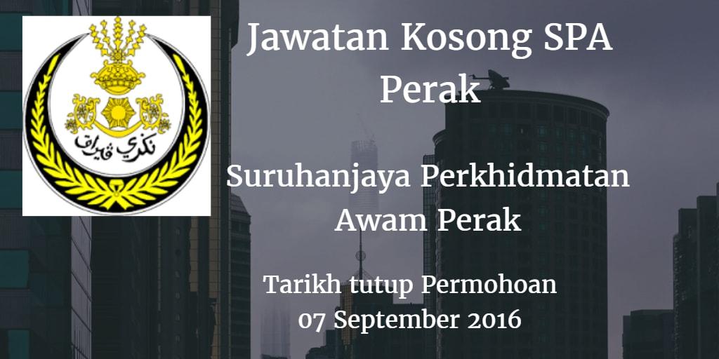 Jawatan kosong SPA Perak 07 September 2016