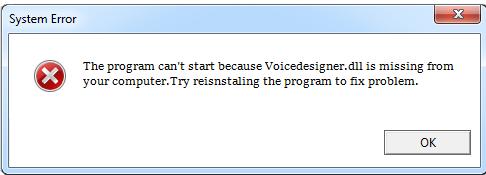 Télécharger Voicedesigner.dll Fichier Gratuit Installer