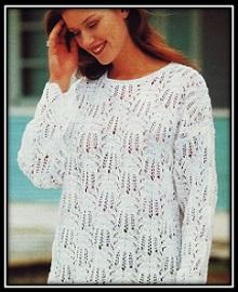 ajurnii pulover dlya polnih dam
