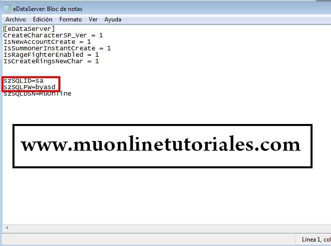 Usuario y password SQL
