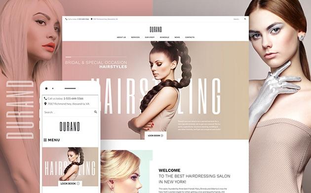 best sellers salon website theme