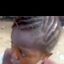 Angry little girl laments as she was driven from school.. Video