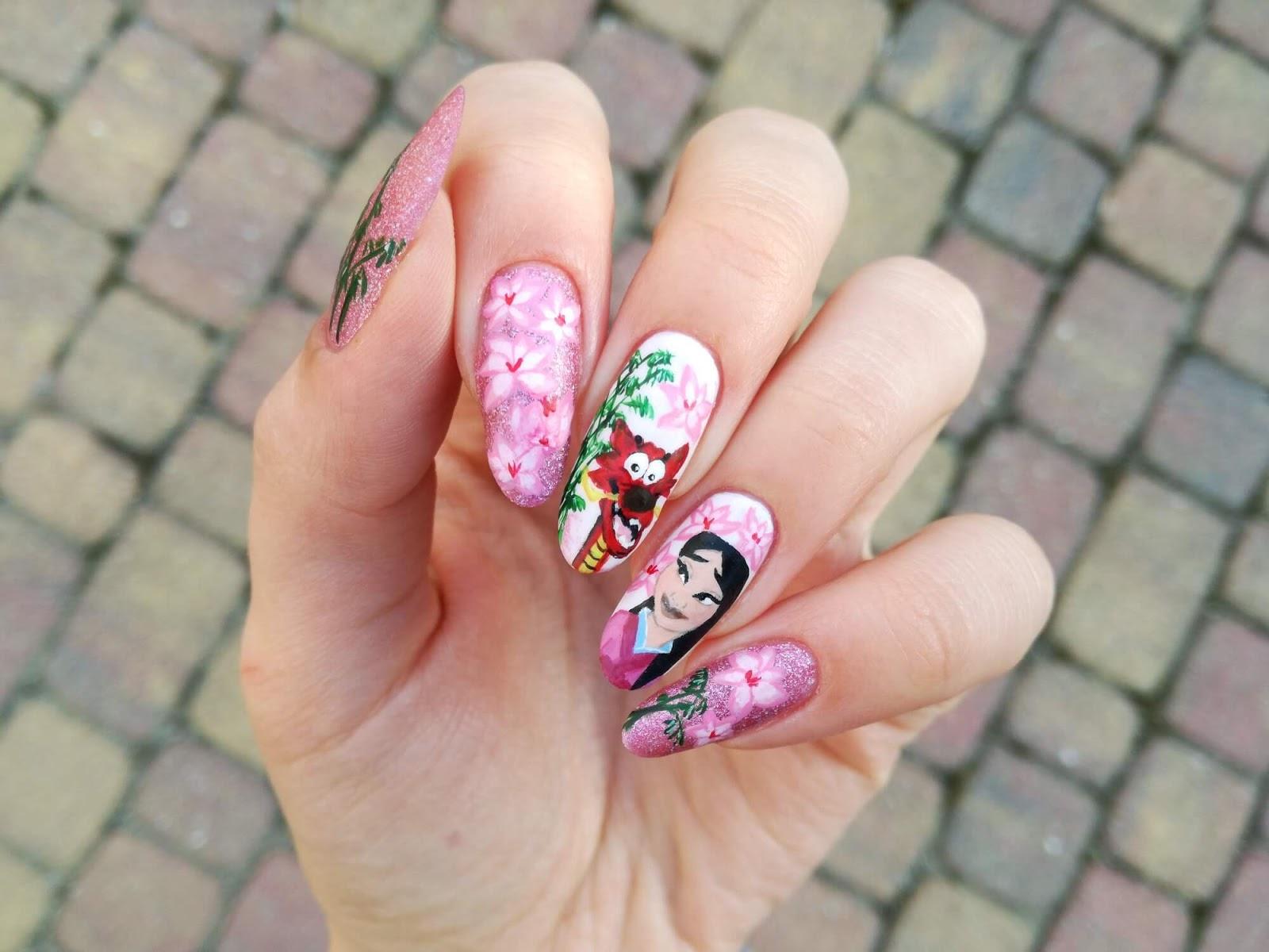 bajkowe paznokcie Disney