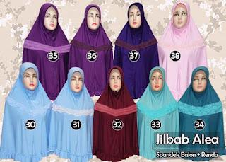 Jilbab renda syar'i jumbo model instan