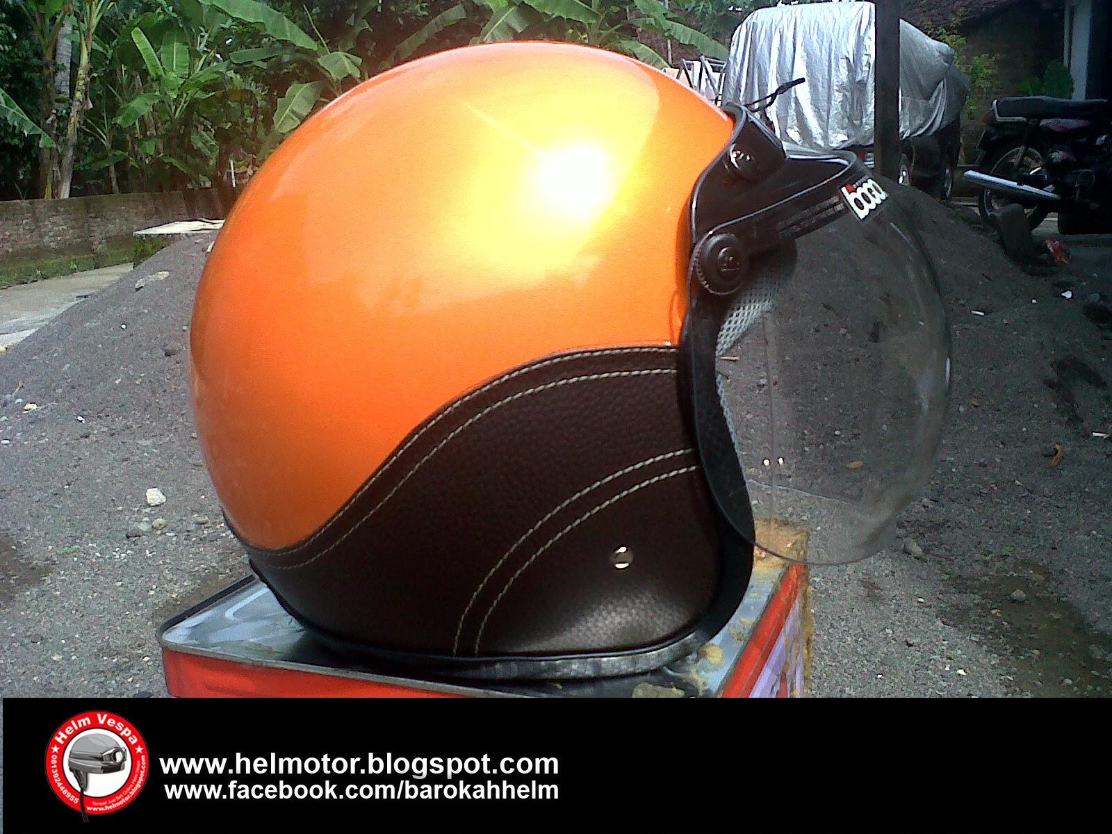 Helm+Vespa+Bogo+Orange+Shinny+1