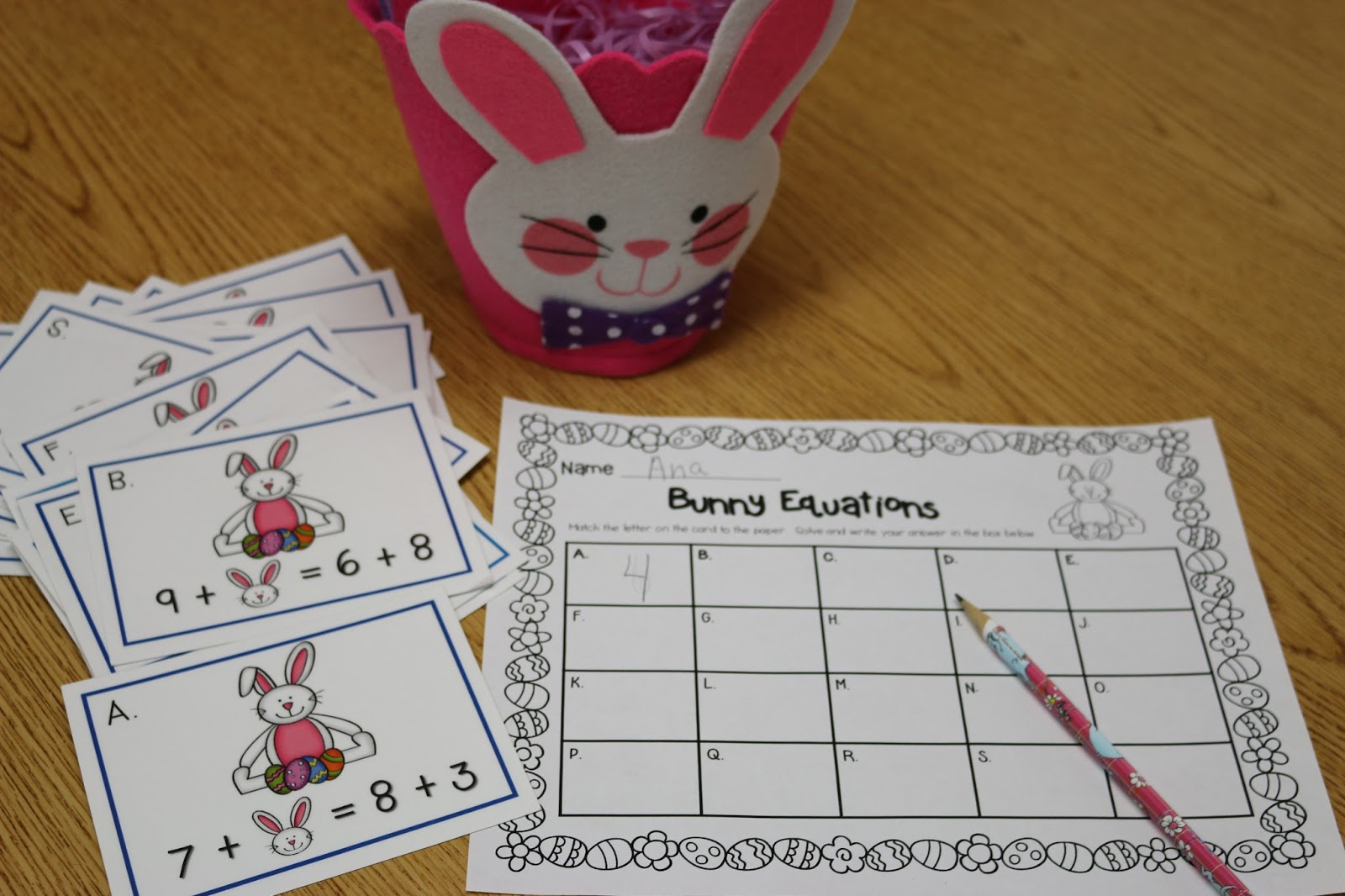 Smiling and Shining in Second Grade: Easter Math Freebie