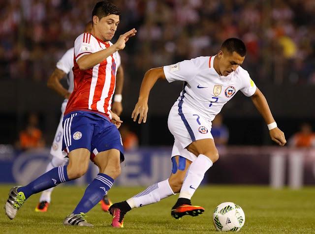 Paraguay y Chile en Clasificatorias a Rusia 2018, 1 de septiembre de 2016