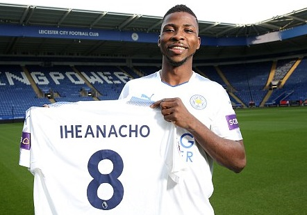 Photos: Leicester City complete signing of Nigerian striker,  Kelechi Iheanacho from Manchester City