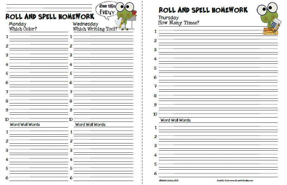 Printables Spelling Homework Worksheets sailing through 1st grade roll and spell homework do make sure you to stop by mrs reynolds blog afterwards will be glad did