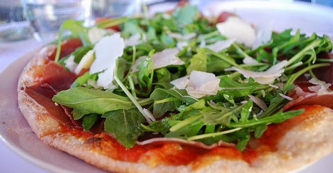 Thin Crust Pizza with Bresaola and Rocket Lettuce