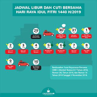 Infografis Jadwal Libur Lebaran 2019