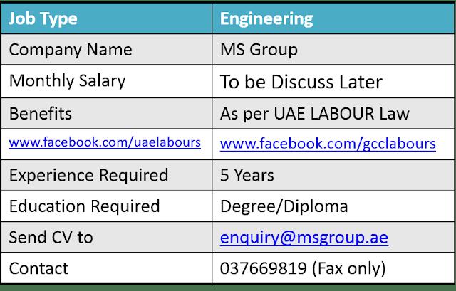 Engineering Jobs in UAE, UAE Jobs, Dubai Engineering Jobs, Fresh Jobs in UAE