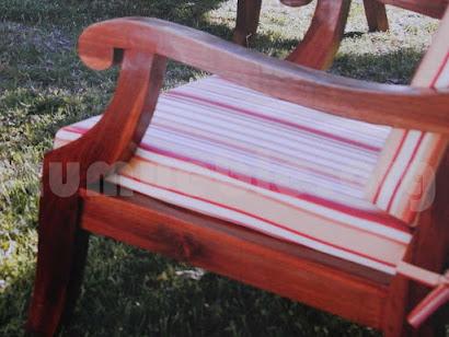 sofa 3 plazas en hecho teca 4166/3