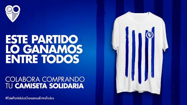 Málaga, la camiseta de la lucha blanquiazul contra el coronavirus