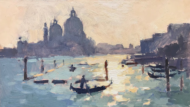 #397 'Gondola Ride, The Grand Canal' 8×14″