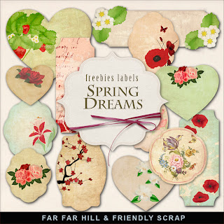 Freebies Kit of Label - Spring Dreams