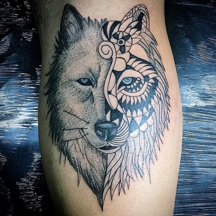Tattoo ideas, tattoo wolf geometric, wolf tattoo meaning, wolf tattoo tumblr, tattoo wolf design, wolf tattoo arm, wolf tattoo old school, wolf tattoo thiers