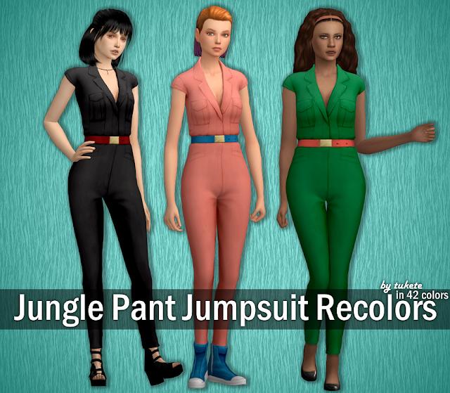 Jungle Pant Jumpsuit Recolors