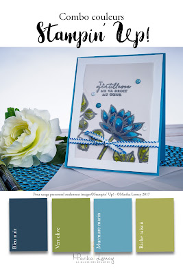 carte combinaisons couleurs Stampin' Up à imprimer