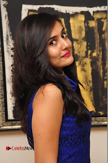 Actress Radha Pictures in Blue Short Dress at talabbayi Audio Launch  0029