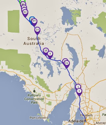 day 4 race map world solar challenge