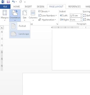 Cara Merubah Halaman Landscape dan Portrait Dalam Satu file di Microsoft Office Word