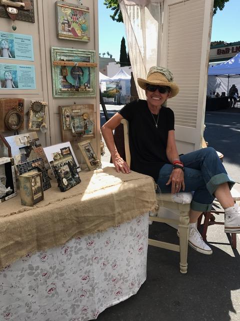 Denise Cerro inside her market booth