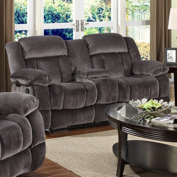 Cheap Recliner Sofas Blue Reclining Loveseat With Console
