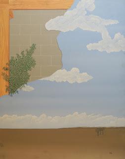 Francesc Calvet obra de arte surrealista paisaje