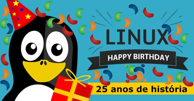 Parabéns Linux pelos os seus 25 anos de história e resiliência!