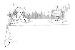 baby birthday digital illustration clipart cake image