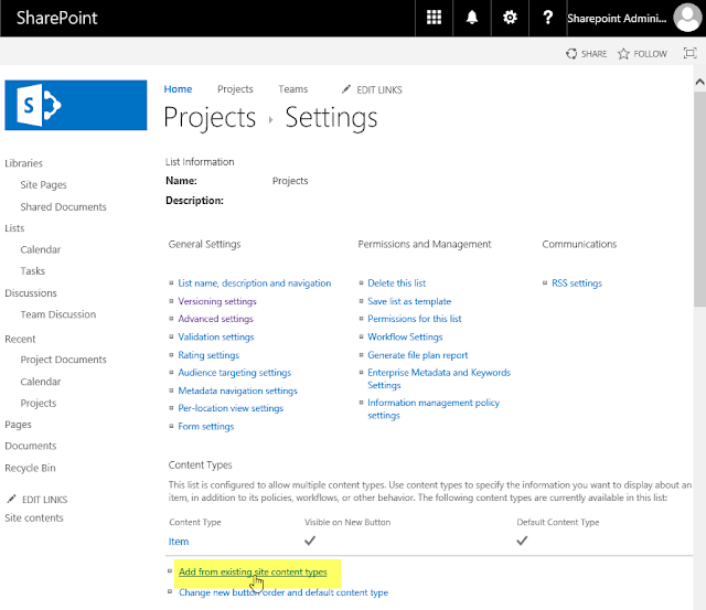 sharepoint online powershell add content type to library