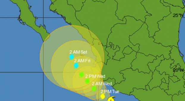 Huracán Carlos amenaza la costa del Pacífico de México Amenaza