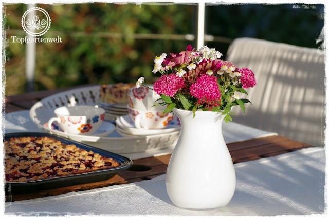Rhabarberkuchen passend für einen Sonntagnachmittag im Sommer - Gartenblog Foodblog Topfgartenwelt