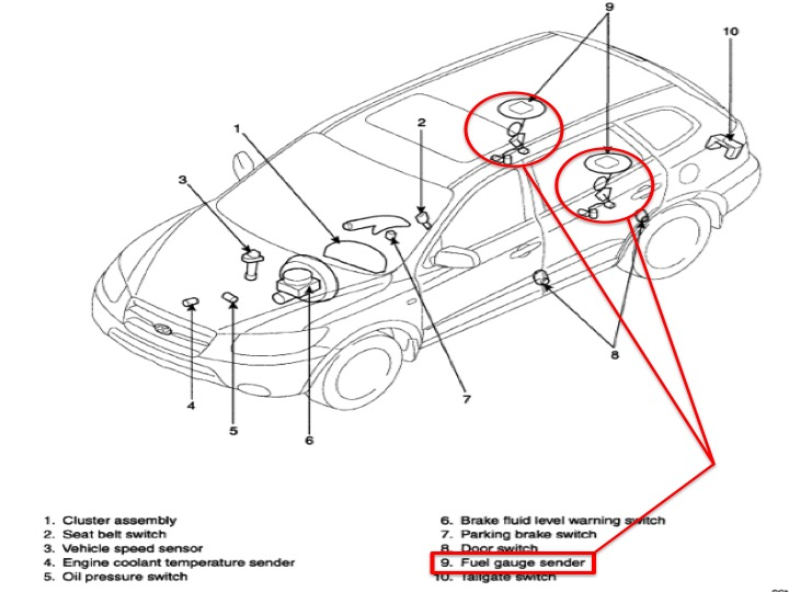 Fuel Sender Issue on toyota highlander garage