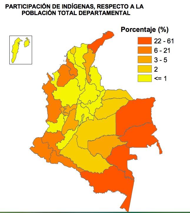 Nuevochoco: Mapa de Comunidades Indígenas en Colombia